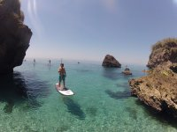 Paddle surf ride