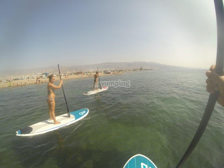 Paddle surf en gopro