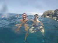 Apunto de comenzar la inmersión en Fuerteventura