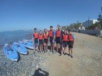 Listos para comenzar el paseo en kayak