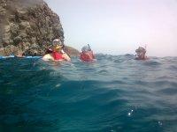 Apunto de practicar snorkel