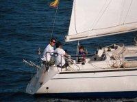 Navegacion en barco de vela