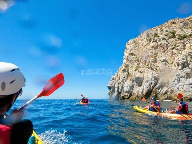Kayaks en La Herradura