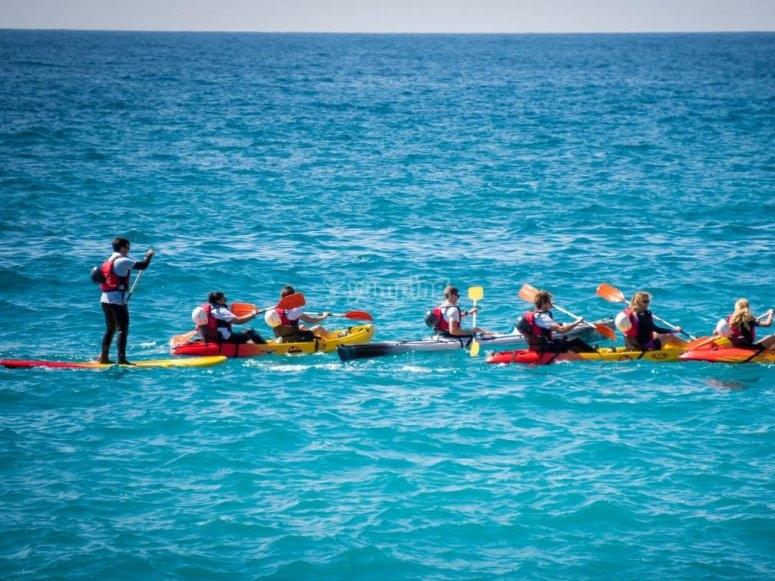 Ruta en kayak en La Herradura