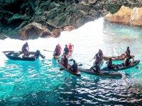 Kayak en cueva