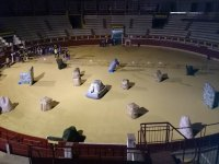 In a bullfighting arena