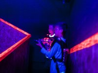 Two laser tag matches in Castelldefels, 30 min