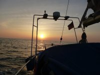 Boat trip and sunset