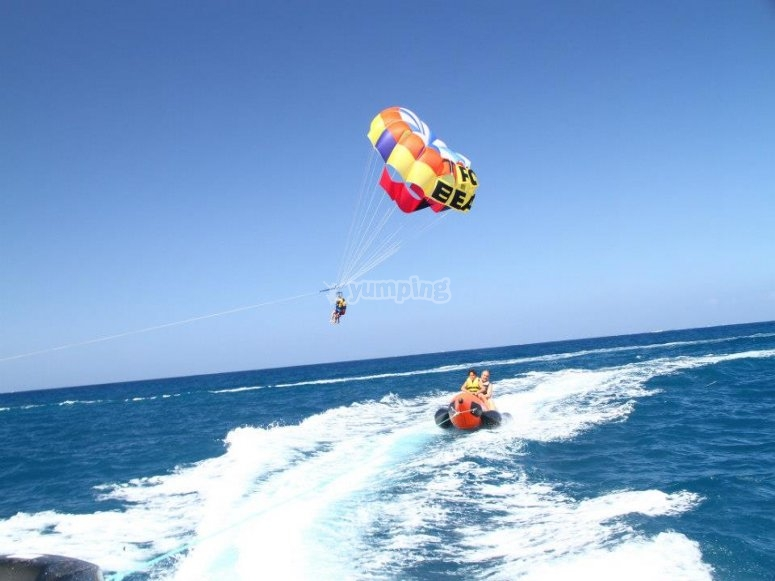Speed in parascending