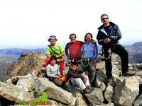 La familia en las montañas
