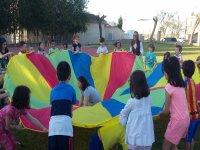 Juegos con paracaidas