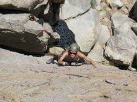 Subiendo las rocas