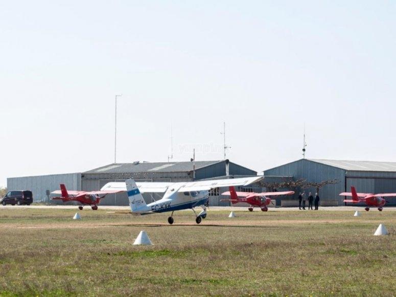Avionetas aparcada