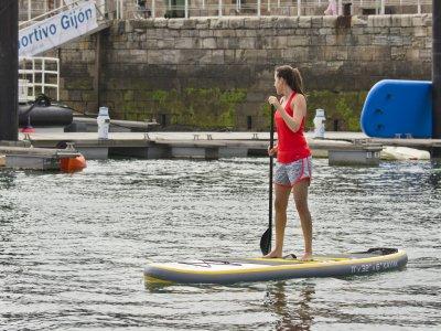 Curso de Paddle Surf en Gijón Playa de Poniente