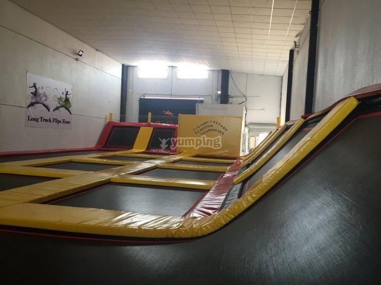 Lateral trampoline in Torrevieja