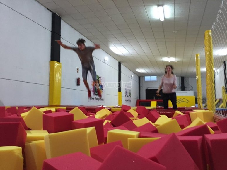 Foam cubes in Torrevieja