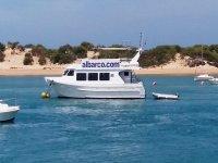 Nuestra embarcación navegando