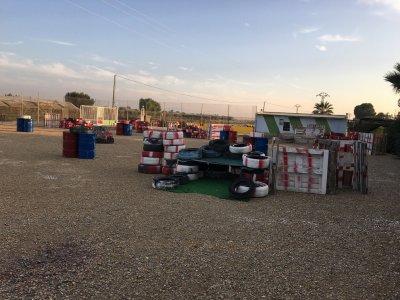 Partida de paintball en familia en Murcia