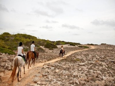 Horse ride at Son Saura Beach