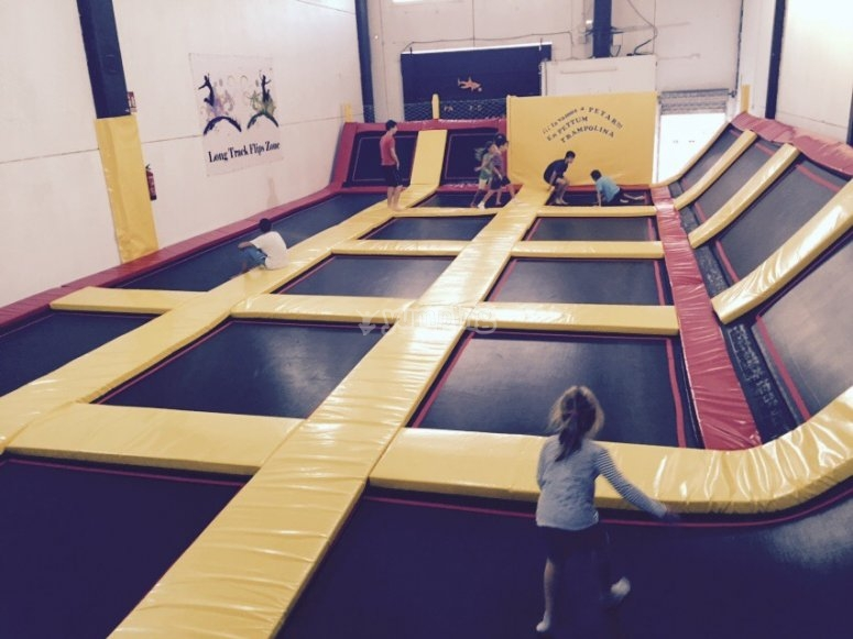 Endless trampolines!