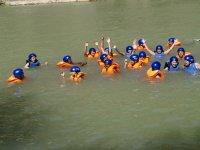 Gymkhana acuatica en el rio