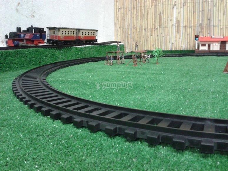 A scale model train