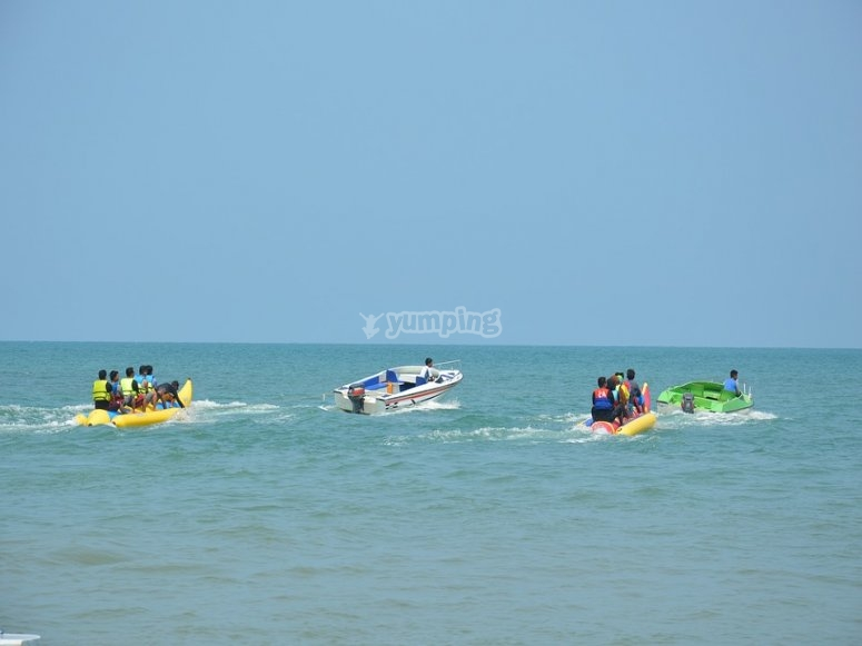 Banana boat y barco