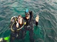 En el mar de La Manga del Mar Menor
