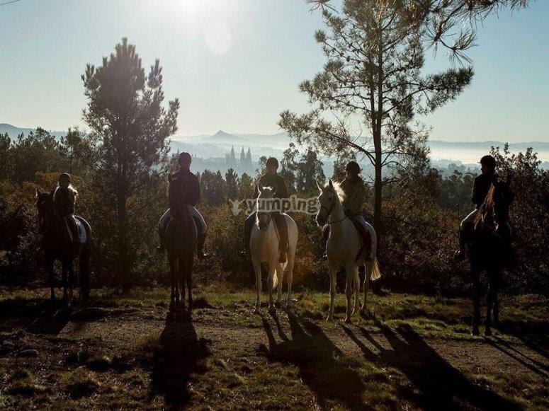 Horse riding in Galicia