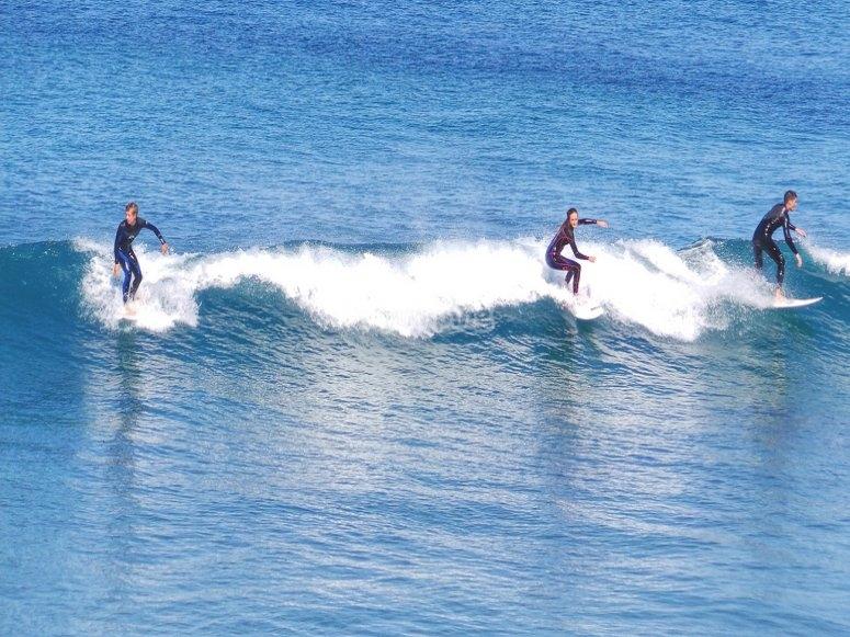 Tomando la ola