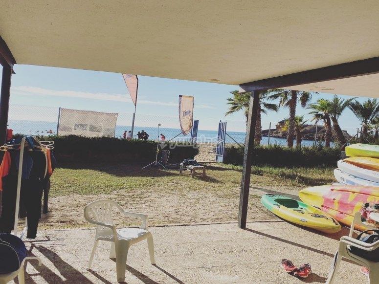 Porche de nuestra Surf House