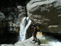 Waterfall with waterfall