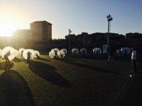 Bubble football match