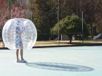 Enjoy the bubble soccer in Madrid