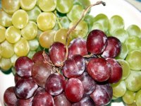 green and red grape clusters