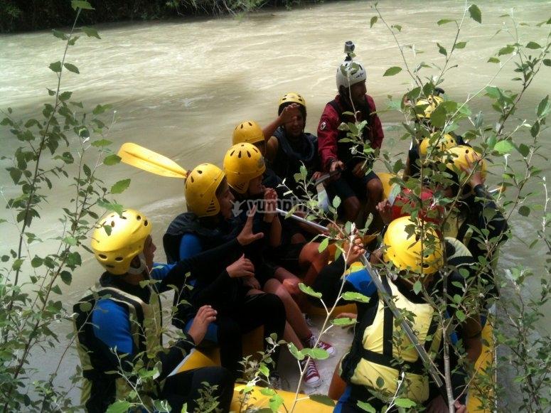 Practice rafting
