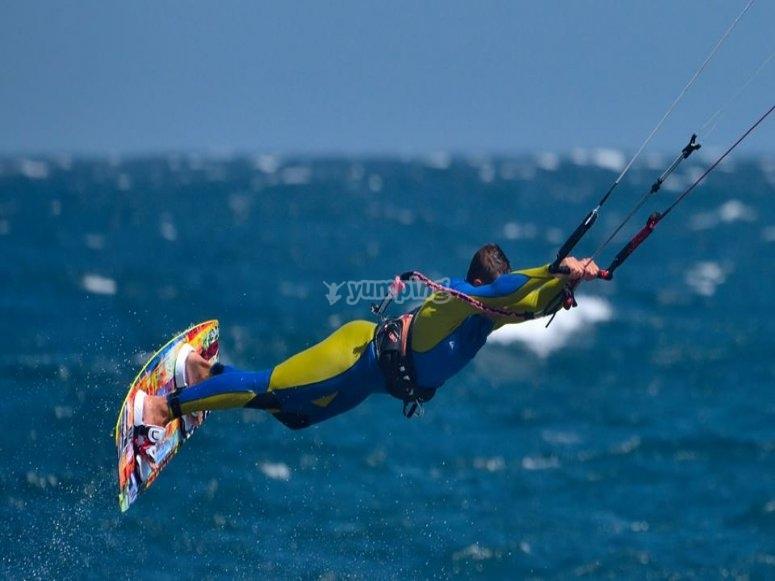 Pirueta de kitesurf