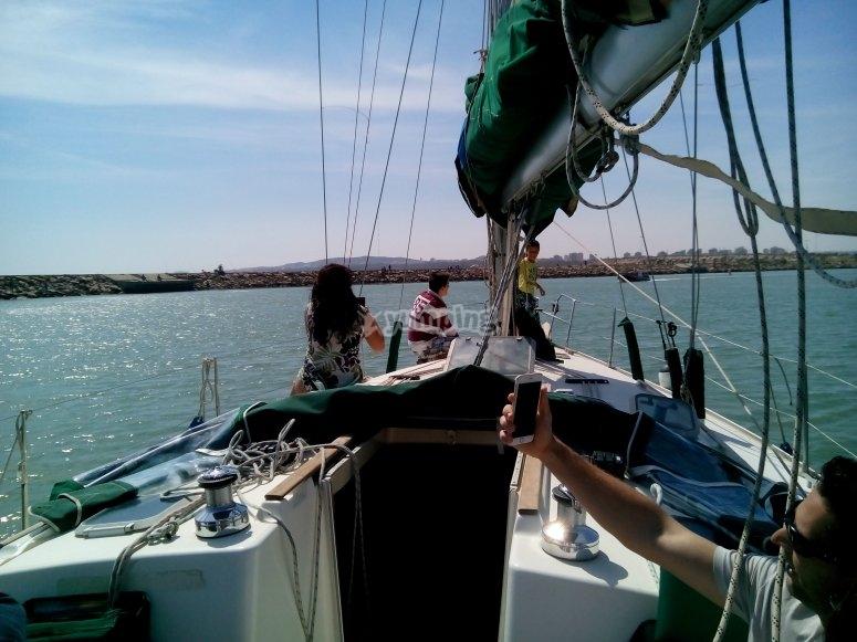 El velero en el mar