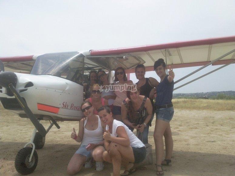 Foto con la avioneta