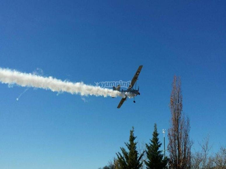 Volando la avioneta