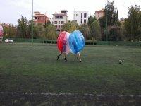 Jugando al bubble soccer