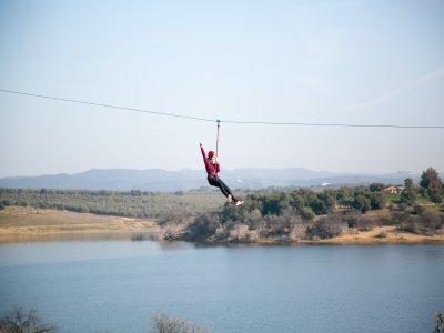 Zipline jump in Almodovar del Rio 120 mts