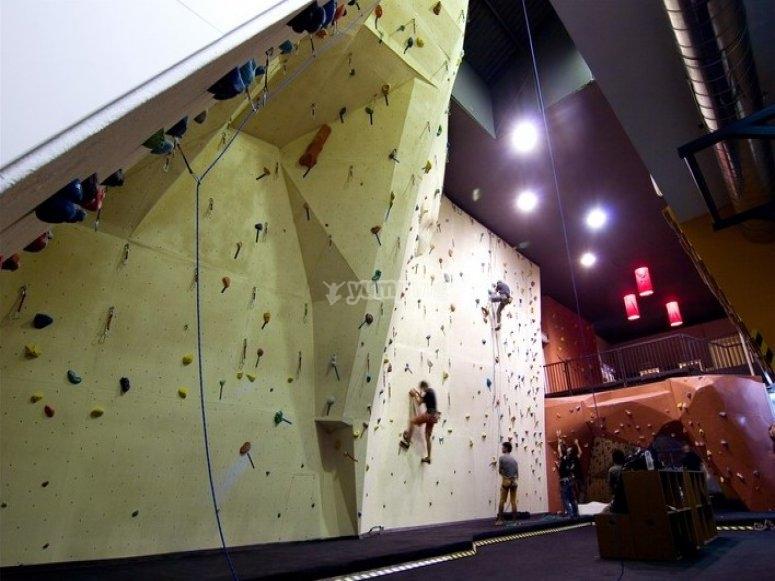 Interior climbing