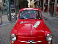 Driving a Seat 600 through the historic streets of Madrid