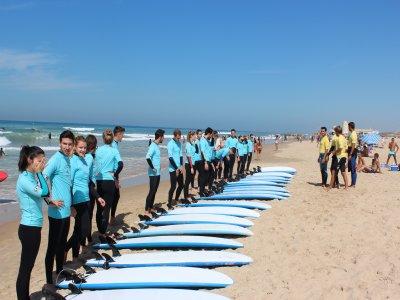 Curso de surf en Cádiz de dos horas