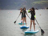 Aprendiendo paddle surf
