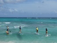 First day of paddle surfing