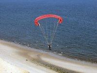 Aterrizando sobre la playa