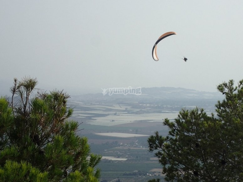Stunning views from the paraglider