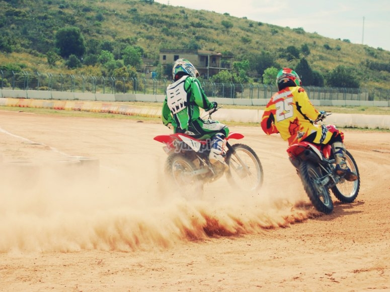 Raising dust in the track